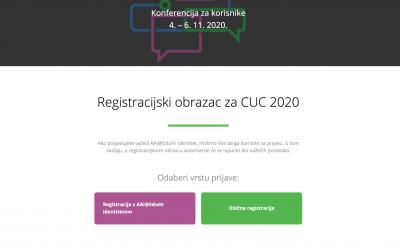 Otvorene prijave na CUC 2020